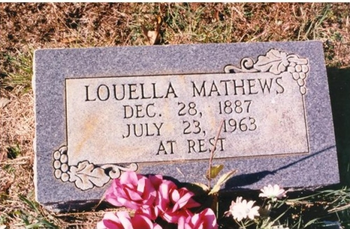 Louella (Dink) Richardson White-Mathews (2nd Generation)