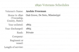 Archie Freeman (Civil War Veteran)