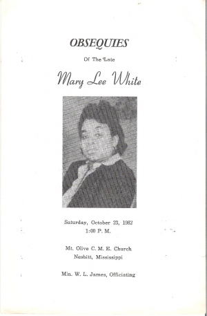 Mary Lee White (1904-1982)