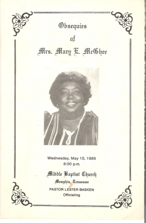 Mary Ellease Jones-McGhee (1940-1985)